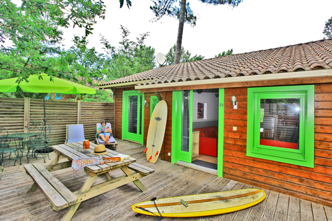Cottage 4/5 p with pool near LANDES ocean €105