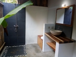 Tropical double bungalow at Batukaras €30